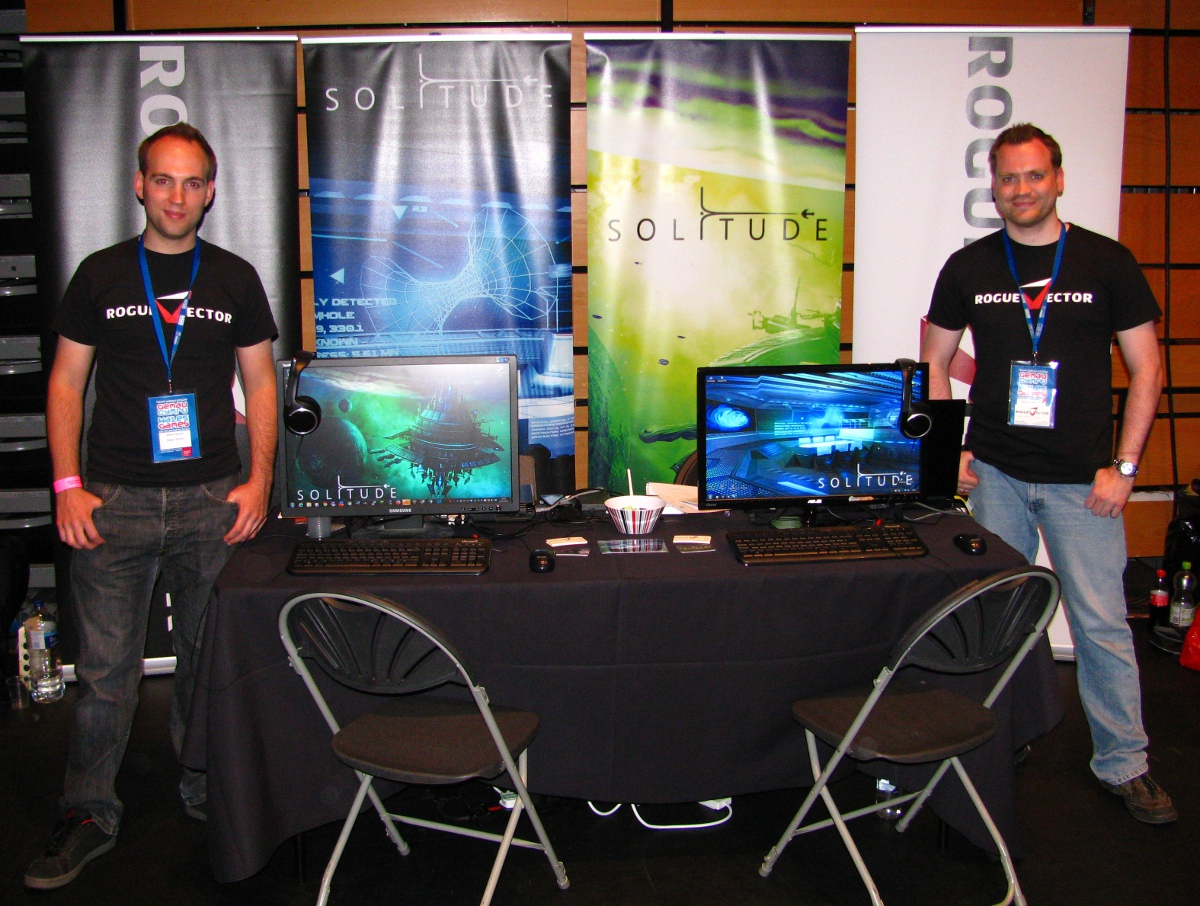 Solitude Booth at Wales Games Development Show 2014